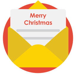 mail christmas icon