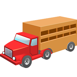 Cow wagon icon