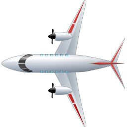 Airplane Top Red icon